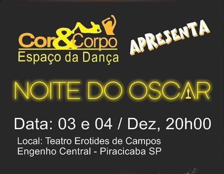 Noite do Oscar - Espaço da Dança Cor & Corpo